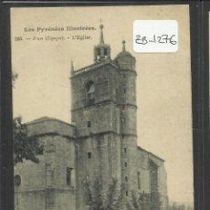 Postales: IRUN - IGLESIA - REVERSO SIN DIVIDIR - (ZB-1276). Lote 48321555