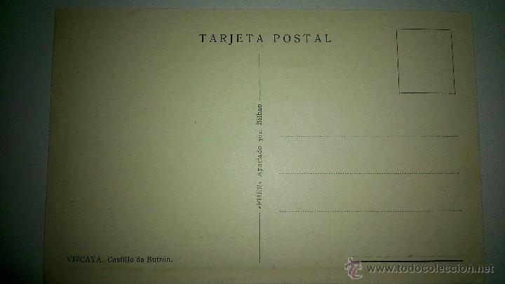 Postales: antigua postal del castillo de butron, vizcaya - Foto 2 - 48325585