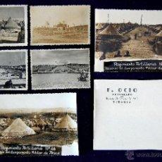 Postales: 6 FOTOS DEL REGIMIENTO ARTILLERIA Nº46. CAMPAMENTO DE ARACA, VITORIA (ALAVA). F.OCIO. SOBRE ORIGINAL. Lote 48592078