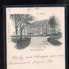 Postales: TARJETA POSTAL DE SAN SEBASTIAN, GUIPUZCOA - EL CASINO. 49. HAUSER Y MENET. 1900. VER DORSO. Lote 48641241