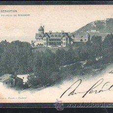 Postales: TARJETA POSTAL DE SAN SEBASTIAN, GUIPUZCOA - PALACIO DE MIRAMAR. 904. HAUSER Y MENET. 1900. VER. Lote 48728008