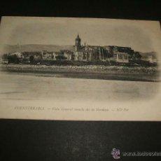 Postales: FUENTERRABIA GUIPUZCOA VISTA GENERAL TOMADA DESDE HENDAYA. Lote 48733945