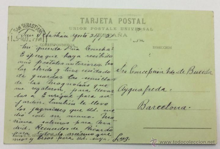 Postales: SAN SEBASTIAN. PESCADOR VASCO. Nº 131. CIRCULADA 1929. - Foto 2 - 48799624
