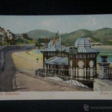 Postales: POSTAL SAN SEBASTIAN COLOREADA CASETA REAL 12 NO DIVIDIDA NO CIRCULADA PURGER & CO. Lote 49035578