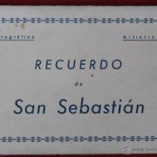 Postales: P-1197. SAN SEBASTIAN. BLOCK DE 10 FOTOGRAFIAS ARTISTICAS AÑOS 50 EN COLOR. EDICIONES ARRIBAS. . Lote 49303937