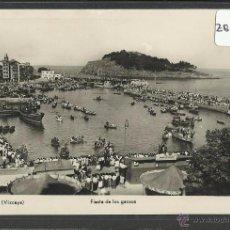 Postales: LEKEITIO - LEQUEITIO - FIESTA DE LOS GANSOS - FOTOGRAFICA CLARET - (ZB-2042). Lote 49359827
