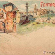 Postales: RARA POSTAL DE FONTARABIE - HONDARRIBIA - FUENTERRABIA - GUIPUZCOA - IMPECABLE EL FRENTE. Lote 49384415