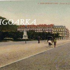 Postales: SAN SEBASTIÁN (GUIPUZCOA).- PASEO DE SALAMANCA Y ZURRIOLA. Lote 49459294