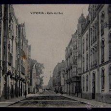 Postales: POSTAL DE VITORIA (ALAVA). CALLE DEL SUR. AÑO 1908. EDICION E.J.G. PARIS-IRUN.. Lote 49634803