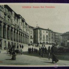 Postales: POSTAL DE VITORIA (ALAVA). CUESTA SAN FRANCISCO. AÑO 1910-1915. EDICION V.B. CUMBO. SERIE 852- Nº19.. Lote 49634838
