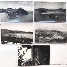 Postales: SAN SEBASTIAN / 5 POSTALES FOTOGRAFICAS / AÑOS 50 / DORSO A TINTA. Lote 49880024