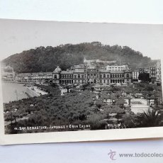 Postales: SAN SEBASTIAN / JARDINES Y GRAN CASINO / ED. ARRIBAS / ESCRITA AL DORSO. Lote 49881092