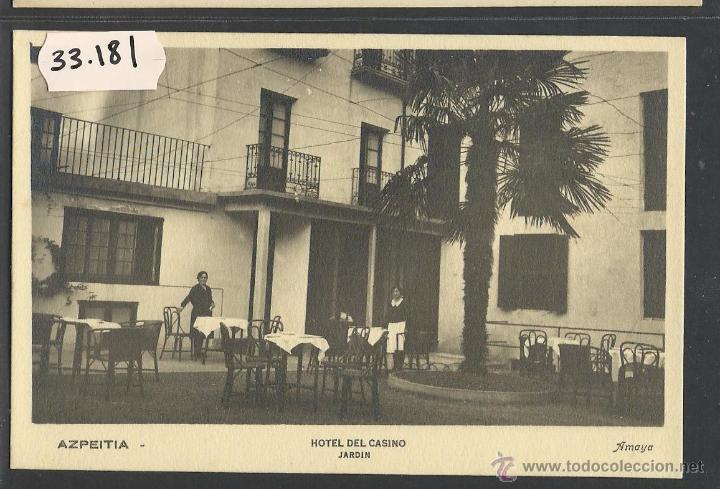 AZPEITIA - HOTEL DEL CASINO - AMAYA - (33181) (Postales - España - Pais Vasco Antigua (hasta 1939))