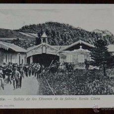 Postales: AZCOITIA (GUIPUZCOA), SALIDA DE LOS OBREROS DE LA FABRICA SANTA CLARA, GUIBERT, SIN CIRCULAR Y SIN D. Lote 50385243
