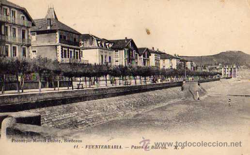 FUENTERRABIA Nº 11 PASEO DE BUTRON M.S. SIN CIRCULAR (Postales - España - País Vasco Moderna (desde 1940))