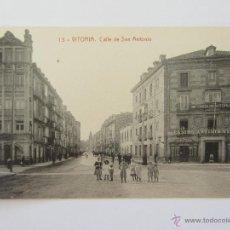 Postales: POSTAL ANTIGUA DE VITORIA. 13. CALLE DE SAN ANTONIO. SIN CIRCULAR. Lote 51025727