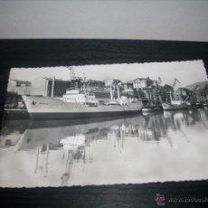 Postales: POSTAL HELIOTIPIA ARTISTICA ESPAÑOLA - Nº 10 BILBAO , LA RIA Y MUELLE DE URIBITARTE - ESCRITA 1958 . Lote 51033777