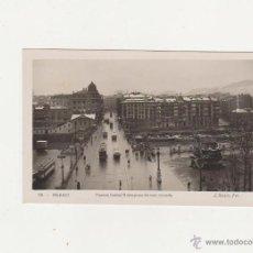 Postales: BILBAO.- PUENTE ISABEL II DESPUÉS DE UNA NEVADA. L. ROISIN - FOT.. Lote 51121641