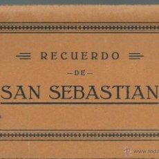 Postales: BLOC 12 POSTALES DE - SAN SEBASTIAN FOTO GALARZA . Lote 51231331