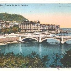 Postales: SAN SEBASTIAN PUENTE DE SANTA CATALINA. Lote 6837224
