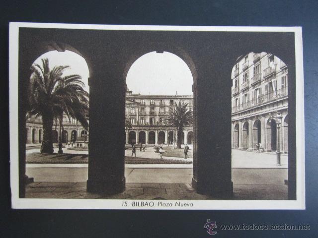 POSTAL VIZCAYA. BILBAO. PLAZA NUEVA. ROISÍN. (Postales - España - Pais Vasco Antigua (hasta 1939))
