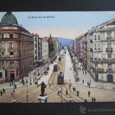 Postales: POSTAL VIZCAYA. LA GRAN VÍA DE BILBAO. . Lote 51452117
