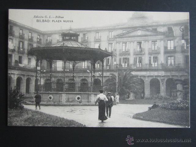 POSTAL VIZCAYA. BILBAO. PLAZA NUEVA. (Postales - España - Pais Vasco Antigua (hasta 1939))