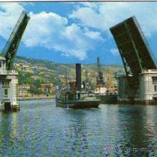 Postales: BILBAO - 14 PUENTE BASCULANTE DEL GENERALÍSIMO. Lote 51740899