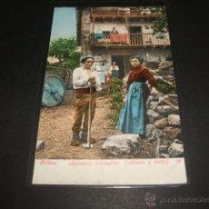 Postales: BILBAO ALDEANOS VIZCAYNOS ABUELO Y NIETA COLECCION PURGER Nº 2947. Lote 51788149