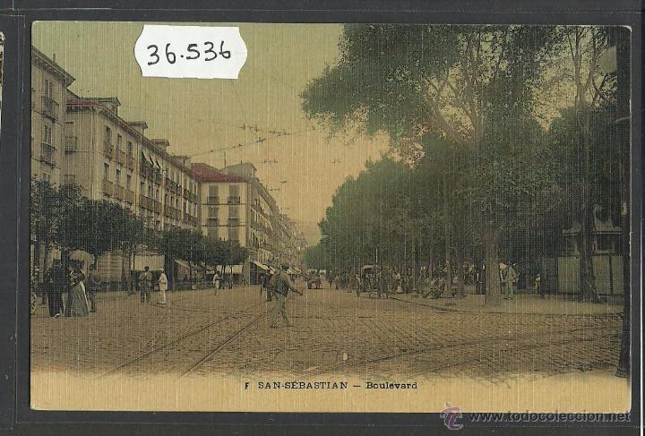 SAN SEBASTIAN - BOULEVARD - (36536) (Postales - España - Pais Vasco Antigua (hasta 1939))