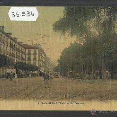 Postales: SAN SEBASTIAN - BOULEVARD - (36536). Lote 51888820