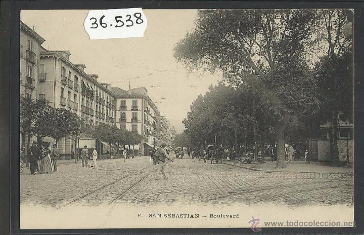 SAN SEBASTIAN - BOULEVARD - (36538) (Postales - España - Pais Vasco Antigua (hasta 1939))
