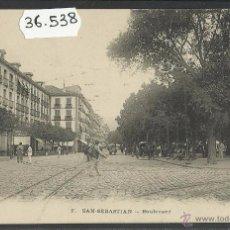 Postales: SAN SEBASTIAN - BOULEVARD - (36538). Lote 51888860