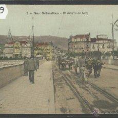 Postales: SAN SEBASTIAN - 9 - BARRIO DE GROS - ED· J. LATIEULE - REVERSO SIN DIVIDIR - (36569). Lote 51889907