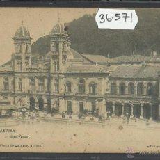 Postales: SAN SEBASTIAN - GRAN CASINO - REVERSO SIN DIVIDIR - FOTOTIPIA VIUDA LABORDE - (36571). Lote 51930797