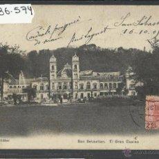 Postales: SAN SEBASTIAN - EL CASINO - ED· J. LATIEULE - REVERSO SIN DIVIDIR - (36574). Lote 51931271