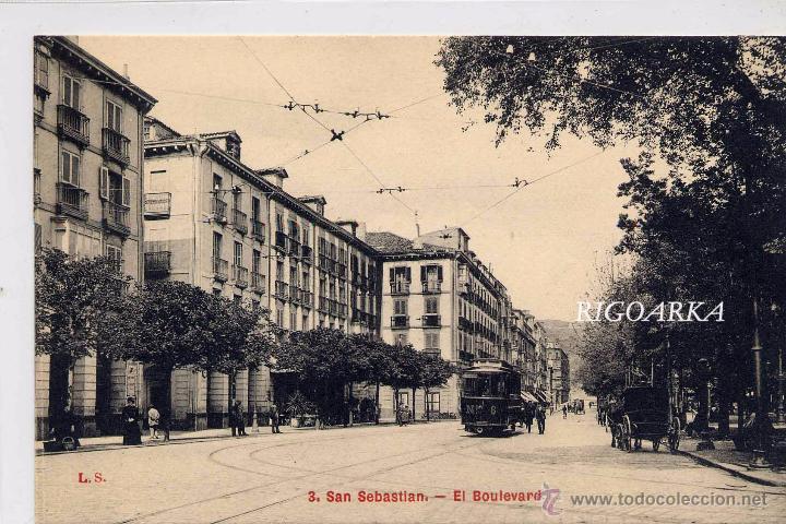 SAN SEBASTIÁN.- EL BOULEVARD (Postales - España - Pais Vasco Antigua (hasta 1939))