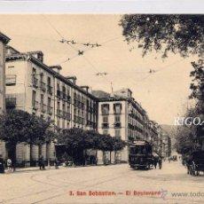 Postales: SAN SEBASTIÁN.- EL BOULEVARD. Lote 52131216