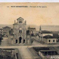Postales: SAN SEBASTIÁN.- PARROQUIA DE SAN IGNACIO. Lote 52131386