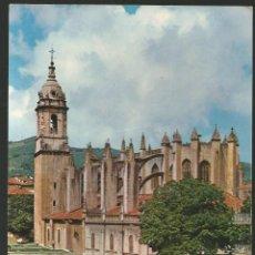 Cartes Postales: POSTAL LEQUEITIO (VIZCAYA) - BASILICA SANTA MARIA - G. GARRABELLA 1964 (COCHES). Lote 52458089