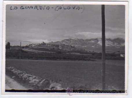 FOTOGRAFÍA VISTA PARCIAL. LAGUARDIA ALAVA. FOTO SOMOZA. ZAMORA (Postales - España - Pais Vasco Antigua (hasta 1939))