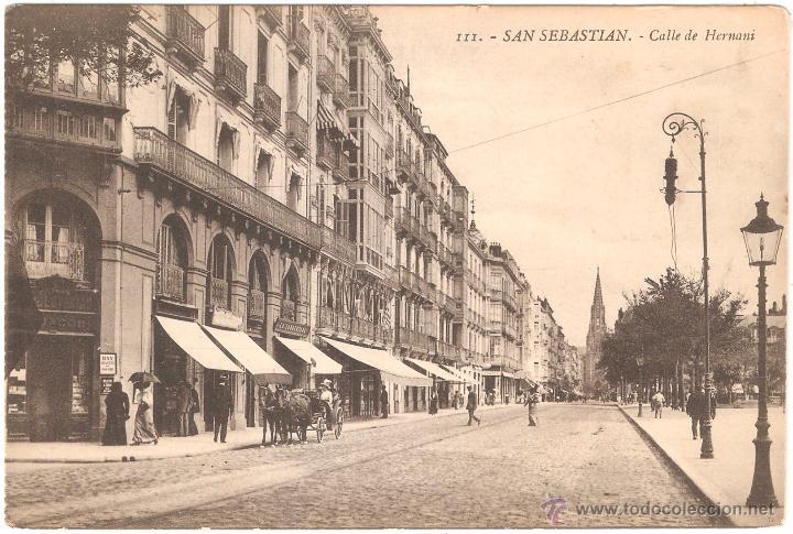 SAN SEBASTIAN CALLE DE HERNANI (Postales - España - Pais Vasco Antigua (hasta 1939))