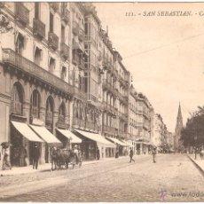 Postales: SAN SEBASTIAN CALLE DE HERNANI. Lote 6729394