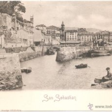 Postales: SAN SEBASTIAN EL MUELLE. Lote 52867002
