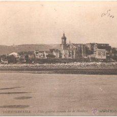 Postales: FUENTERRABÍA VISTA GENERAL TOMADA DESDE HENDAYA 1906. Lote 52867651