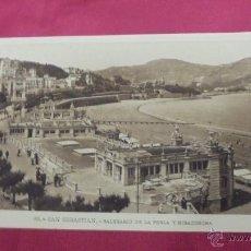 Postales: TARJETA POSTAL. SAN SEBASTIAN. BALNEARIO DE LA PERLA Y MIRACONCHA.. Lote 52869733