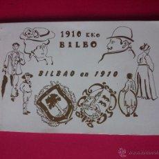 Postales: ESTUCHE - BLOCK DE 12 REPRODUCCIONES DE POSTALES , POSTAL - BILBAO EN 1910 - EKO BILBO ..R-706. Lote 53397274