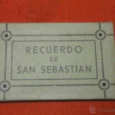 Postales: ACORDEON POSTALES SAN SEBASTIAN, FIRMADAS POR PERSONALIDADES ACCION CATOLICA. Lote 53536637