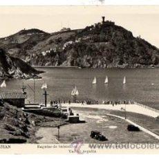 Postales: TARJETA POSTAL SAN SEBASTIAN. REGATAS DE BALANDROS. MANIPEL. AÑO 1959. Lote 53660513