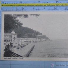 Cartes Postales: POSTAL DE GUIPÚZCOA. AÑOS 30 50. SAN SEBASTIAN. LA POINTE DE L'ORGULL. CHOCOLAT LOUIT. 2881. Lote 53737196